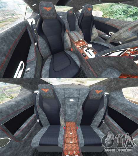 GTA 5 Bentley Continental GT 2012 [replace] frente vista lateral direita