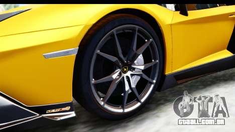 Lamborghini Aventador LP720-4 Roadster 2013 para GTA San Andreas vista traseira