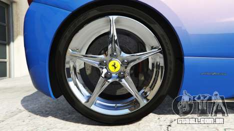 GTA 5 Ferrari 458 Italia v2.0 [replace] traseira direita vista lateral