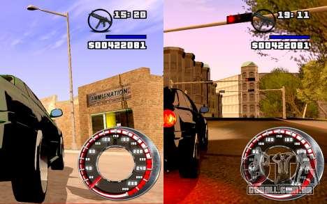 Velocímetro GTA SA Estilo V16x9 (widescreen) para GTA San Andreas segunda tela
