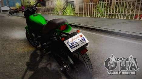 GTA 5 Pegassi Esskey IVF para GTA San Andreas traseira esquerda vista