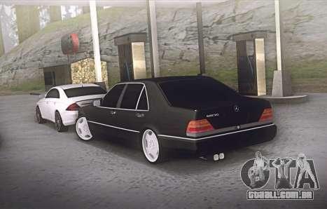 Mercedes-Benz W140 600sel para GTA San Andreas traseira esquerda vista
