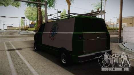 GTA 4 Burrito para GTA San Andreas traseira esquerda vista