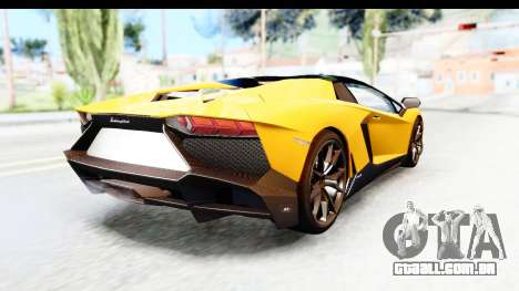 Lamborghini Aventador LP720-4 Roadster 2013 para GTA San Andreas traseira esquerda vista