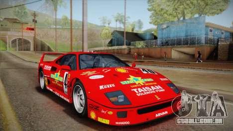 Ferrari F40 (EU-Spec) 1989 IVF para o motor de GTA San Andreas