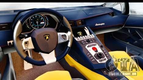 Lamborghini Aventador LP720-4 Roadster 2013 para GTA San Andreas vista interior