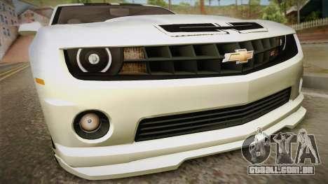 Chevrolet Camaro Synergy para GTA San Andreas vista direita