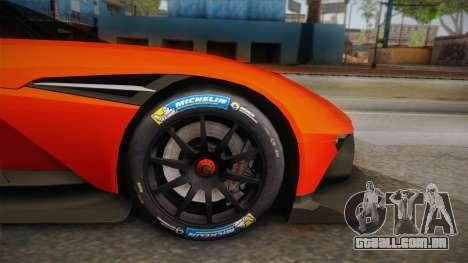 Aston Martin Vulcan para GTA San Andreas vista traseira