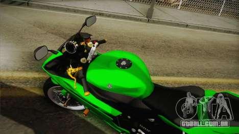 Yamaha YZF-R6 2008 para GTA San Andreas traseira esquerda vista