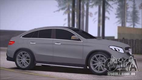 Mercedes-Benz GLE AMG para GTA San Andreas esquerda vista