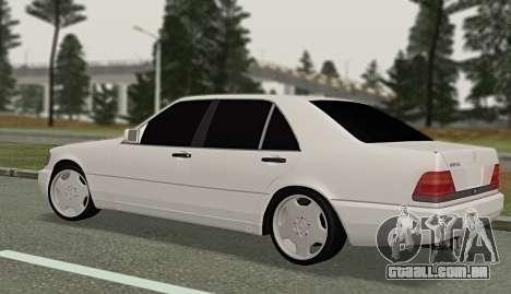 Mercedes-Benz W140 600sel para GTA San Andreas esquerda vista