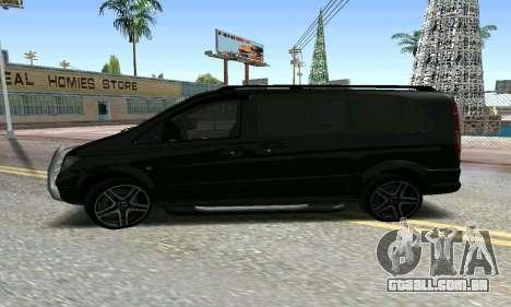 Mercedes-Benz Vito para GTA San Andreas vista direita