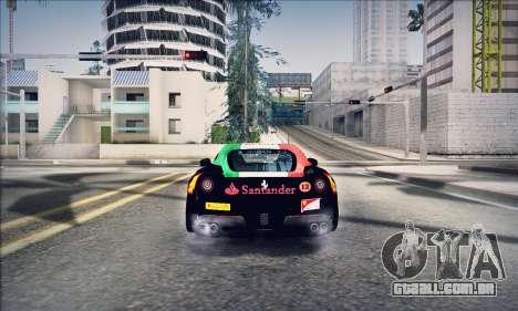 Ferrari F12 Berlinetta para GTA San Andreas vista traseira
