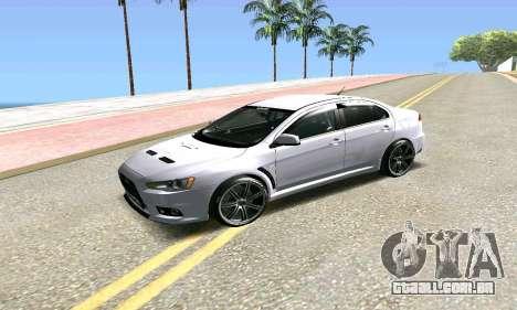 Mitsubishi Lancer para GTA San Andreas vista traseira