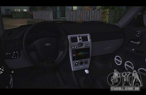 Lada Priora Táxi-O Vento para GTA San Andreas esquerda vista