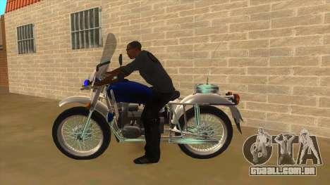 Ural De Polícia para GTA San Andreas esquerda vista
