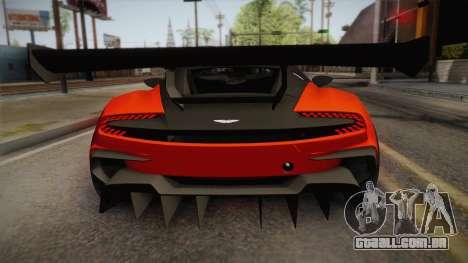 Aston Martin Vulcan para GTA San Andreas vista direita
