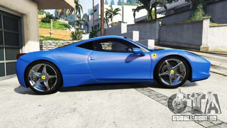 GTA 5 Ferrari 458 Italia v2.0 [replace] vista lateral esquerda