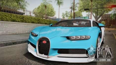 Bugatti Chiron 2017 para GTA San Andreas vista superior