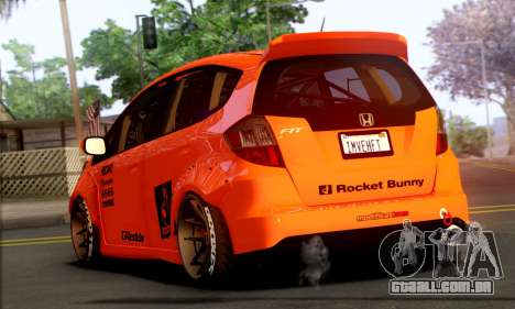 Honda Fit 2009 Rocket Bunny para GTA San Andreas esquerda vista