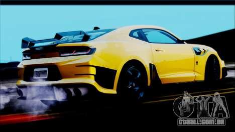 Chevrolet Camaro SS 2016 Bumblebee TF 5 para GTA San Andreas esquerda vista