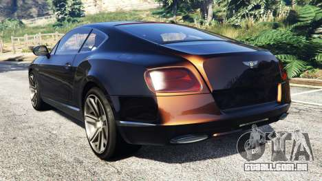GTA 5 Bentley Continental GT 2012 [replace] traseira vista lateral esquerda