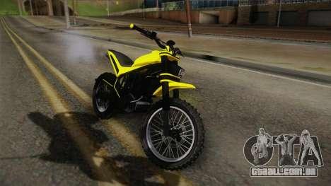 GTA 5 Epic Maibatsu Manchez para GTA San Andreas traseira esquerda vista
