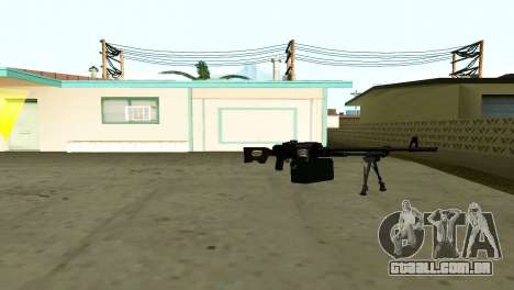 PKM Preto para GTA San Andreas por diante tela
