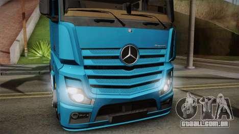 Mercedes-Benz Actros Mp4 6x2 v2.0 Gigaspace para GTA San Andreas traseira esquerda vista