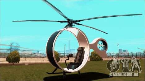 Futuristic Helicopter para GTA San Andreas