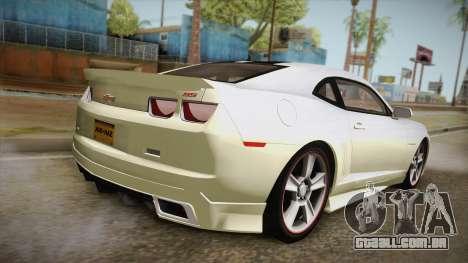 Chevrolet Camaro Synergy para GTA San Andreas esquerda vista