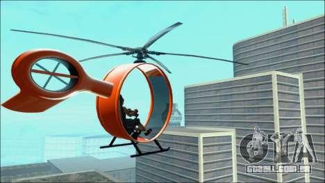 Futuristic Helicopter para GTA San Andreas esquerda vista