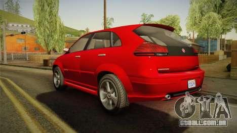 GTA 5 Emperor Habanero para GTA San Andreas esquerda vista