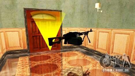 PKM Preto para GTA San Andreas sexta tela