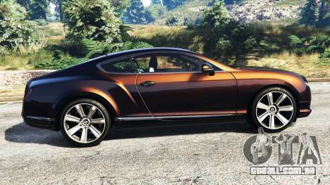 GTA 5 Bentley Continental GT 2012 [replace] vista lateral esquerda