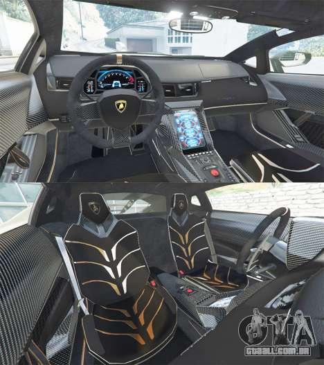 GTA 5 Lamborghini Centenario LP770-4 2017 v1.3 [r] traseira direita vista lateral