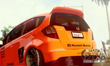 Honda Fit 2009 Rocket Bunny para GTA San Andreas vista direita