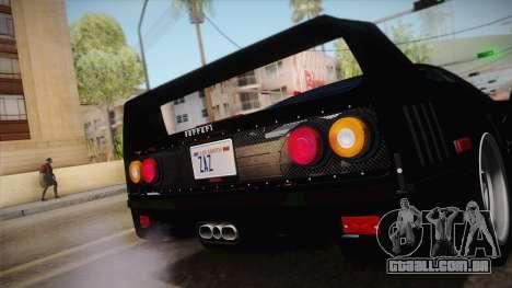 Ferrari F40 (US-Spec) 1989 IVF para GTA San Andreas vista direita