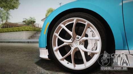 Bugatti Chiron 2017 para GTA San Andreas traseira esquerda vista