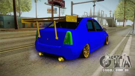 Dacia Logan Stance Haur Edition para GTA San Andreas traseira esquerda vista