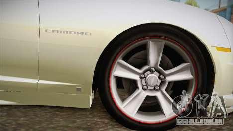 Chevrolet Camaro Synergy para GTA San Andreas traseira esquerda vista