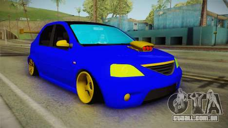 Dacia Logan Stance Haur Edition para GTA San Andreas vista direita