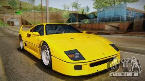 Ferrari F40 (EU-Spec) 1989 IVF para GTA San Andreas