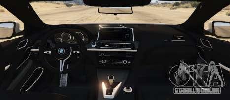 GTA 5 BMW M6 F13 Coupe 2013 traseira vista lateral esquerda