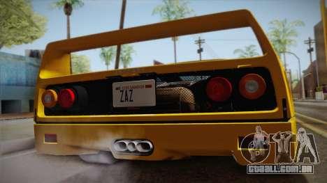 Ferrari F40 (EU-Spec) 1989 IVF para GTA San Andreas vista direita