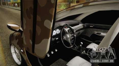 Peugeot 206 Army para GTA San Andreas