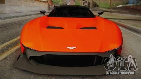 Aston Martin Vulcan para GTA San Andreas traseira esquerda vista