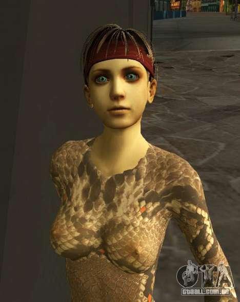 Rebecca Chambers Snake Battlesuit v1 para GTA San Andreas