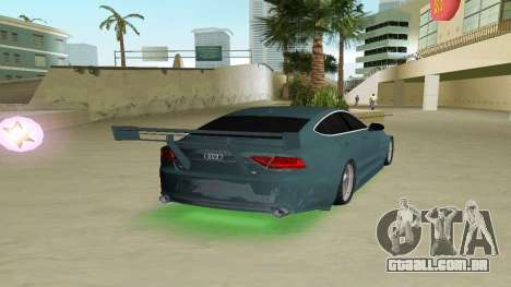 AUDI A7 SPORTS para GTA Vice City vista traseira esquerda