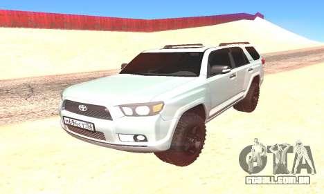 Toyota 4Runner para GTA San Andreas vista direita